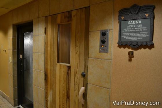 Sauna do Animal Kingdom Lodge.
