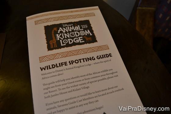 """Guiazinho bem útil para """"estudar"""" os animais."""