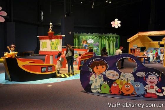 Exposição temporária da Dora Aventureira