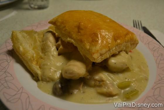 Foto do prato com o Chicken Pot Pie