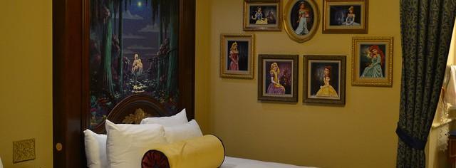 Um pedacinho do quarto das princesas no Port Orleans Riverside.