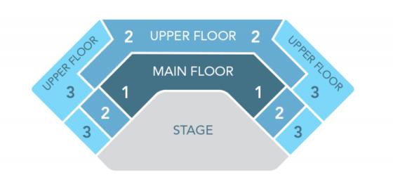 Mapa de assentos do show