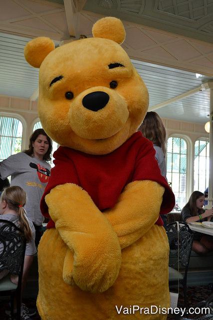 Foto do Pooh posando para a câmera no Crystal Palace