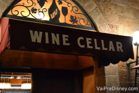 O Tutto Gusto Wine Cellar fica escondidinho no pavilhão da itália do Epcot.