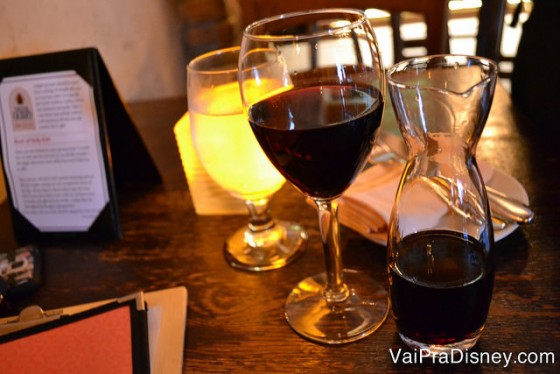 Os vinhos também são vendidos em porções menores.