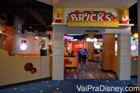 Bricks, o restaurante do hotel do Legoland