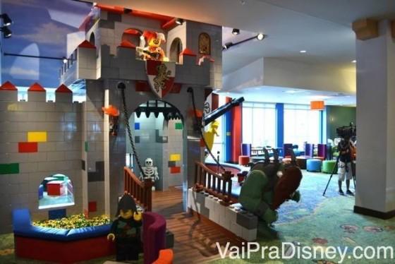 Playground na recepção do hotel da Legoland