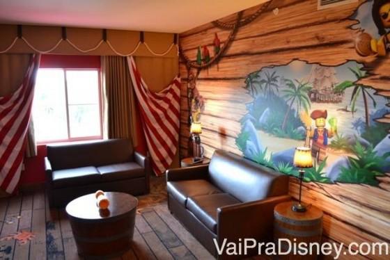 Sala de estar da suite