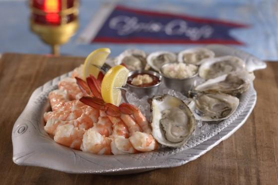 Prato com os frutos do mar que são especialidade do The Boathouse, como camarão e ostra. Foto: divulgação