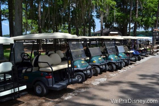 Foto dos carrinhos de golf para alugar no Fort Wilderness