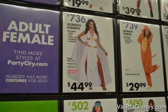 Opções de fantasias para mulheres adultas na Party City