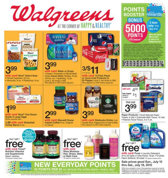 Algumas das ofertas disponíveis pro Walgreens que eu mais visito em Orlando.