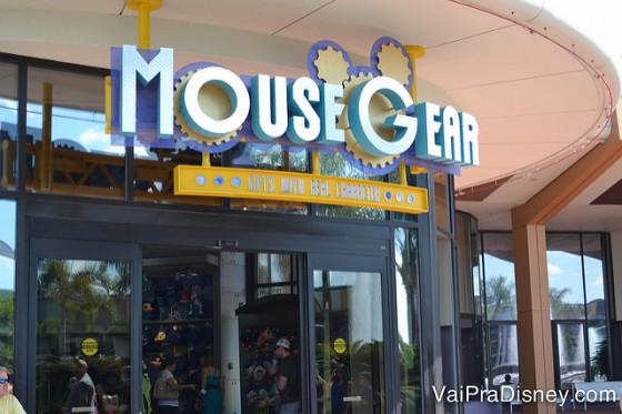 A maior loja da Disney dentro de parque.