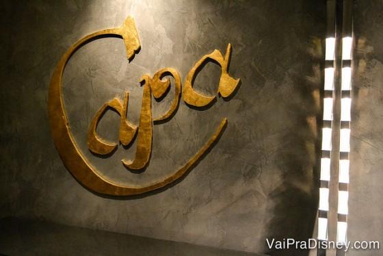 Foto da entrada do Capa, uma casa de carnes espanholas deliciosa na cobertura do Four Seasons Orlando.