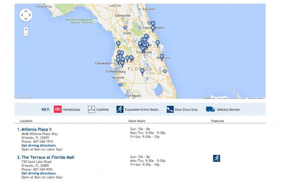 Veja a lista de lojas próximas e horário de funcionamento.