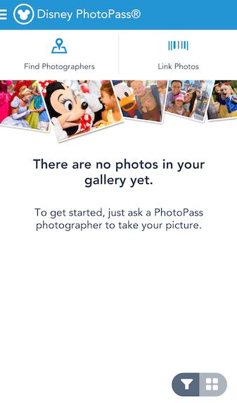 Você pode vincular seu photopass ou memory maker direto com o app!