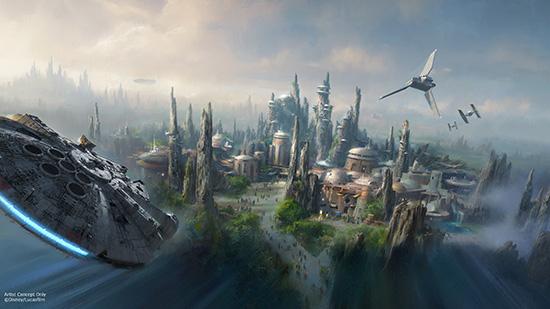 Imagem de divulgação da nova land de Star Wars! Mal posso esperar!!