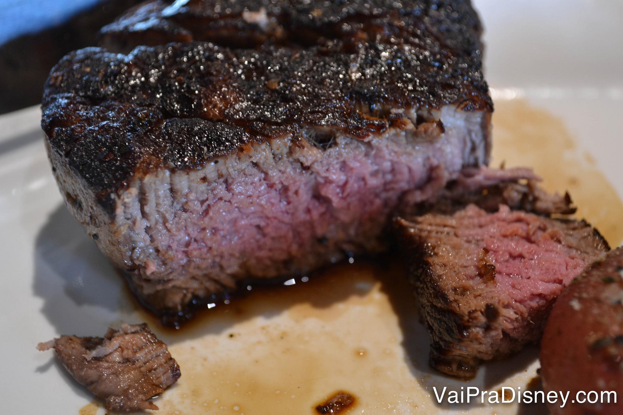 Carne no ponto perfeito para mim, no Boathouse.