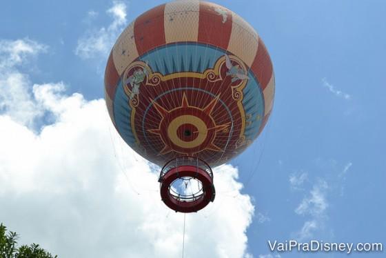 O famoso balão do Disney Springs. Uma programação rápida, tranquila e gostosa.