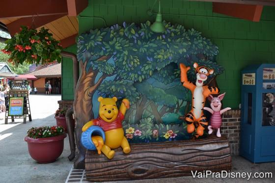 Além das lojas, restaurantes e atrações, o Disney Springs tem alguns pontos muito bonitinhos para fotos. Este é um exemplo!