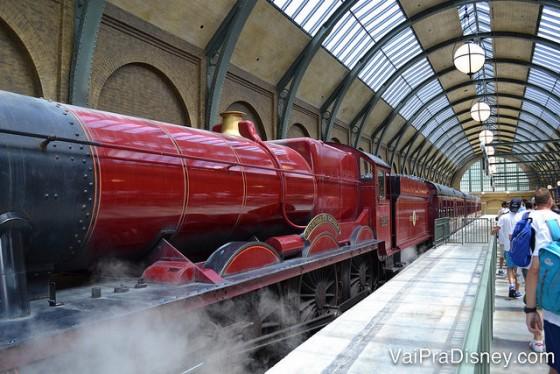 O único jeito de aproveitar o Expresso de Hogwarts é com o ingresso park to park.