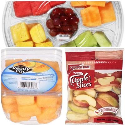 Frutas picadinhas em Orlando. Quem disse que nos EUA não dá para comer saudável?