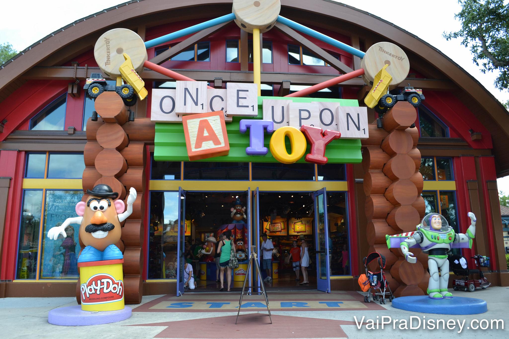 A Once Upon a Toy vende todo tipo de brinquedos.