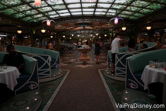 Os restaurantes do cruzeiro também são um mais lindo que o outro.