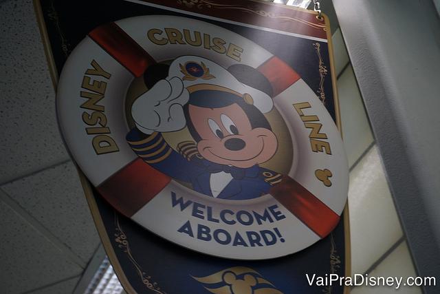O cruzeiro já tem carinha de Disney desde o momento que você chega no porto!