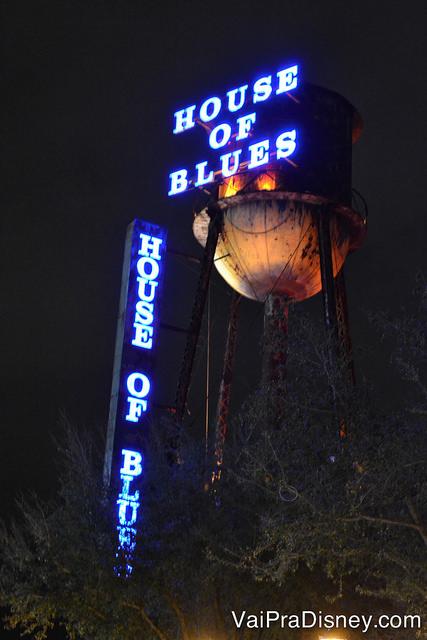 Até a caixa d'água da House of Blues é estilosa.