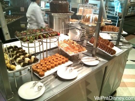 Sobremesas no Hollywood & Vine. A melhor parte na minha opinião