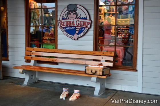 Ponto de fotos mais clássico do Bubba Gump. Não precisa nem entrar no restaurante para tirar uma foto ali.