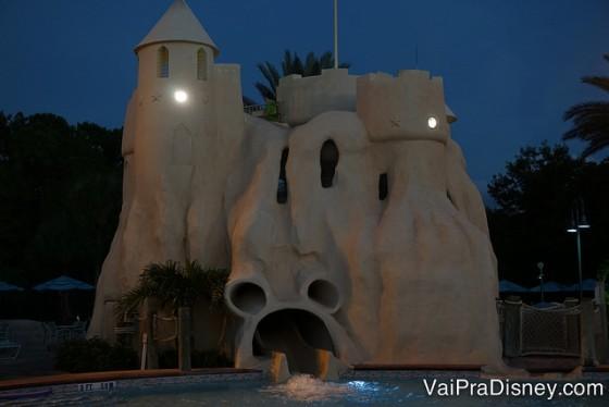 Detalhe do Mickey na saída do toboágua da piscina do Old Key West.
