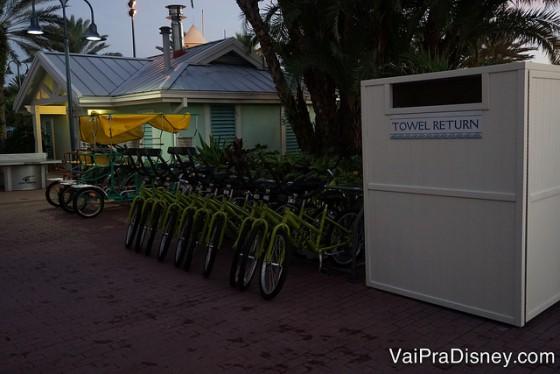 Bicicletas para alugar.