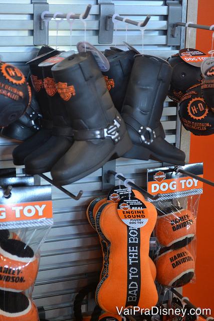 Brinquedos para cachorros da Harley-Davidson.