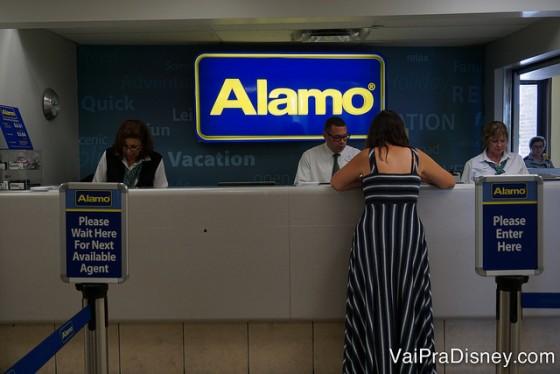 A Alamo e a National também dividem o balcão por lá.