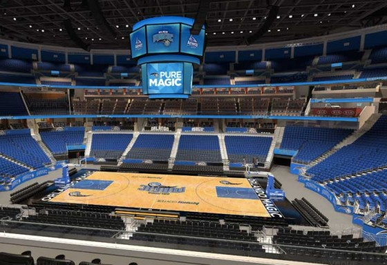 Visão do setor Club do Amway Center - NBA Orlando Magic