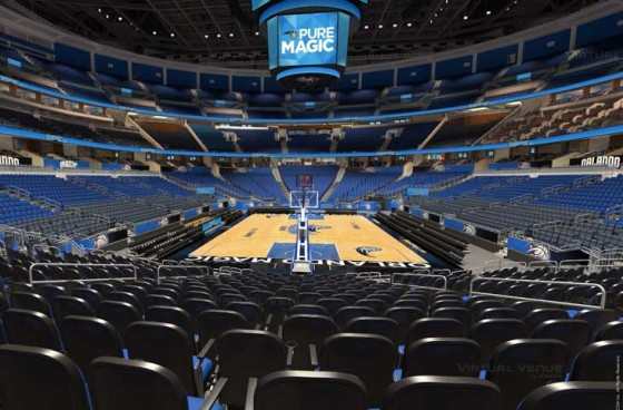 Visão do setor Terrace C do Amway Center - NBA Orlando Magic