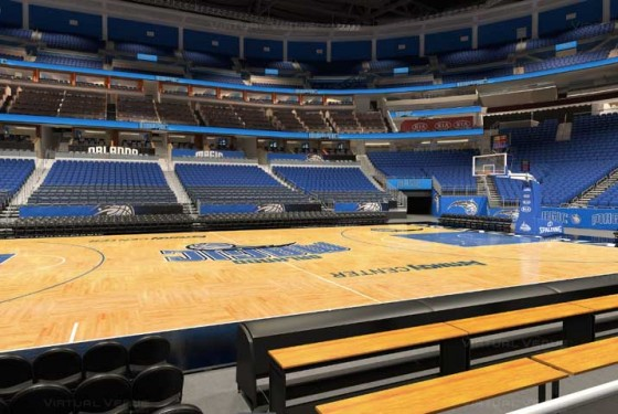 Visão do setor Ultimate do Amway Center - NBA Orlando Magic