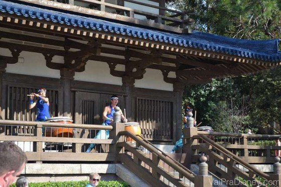 Show de tambores no Japão