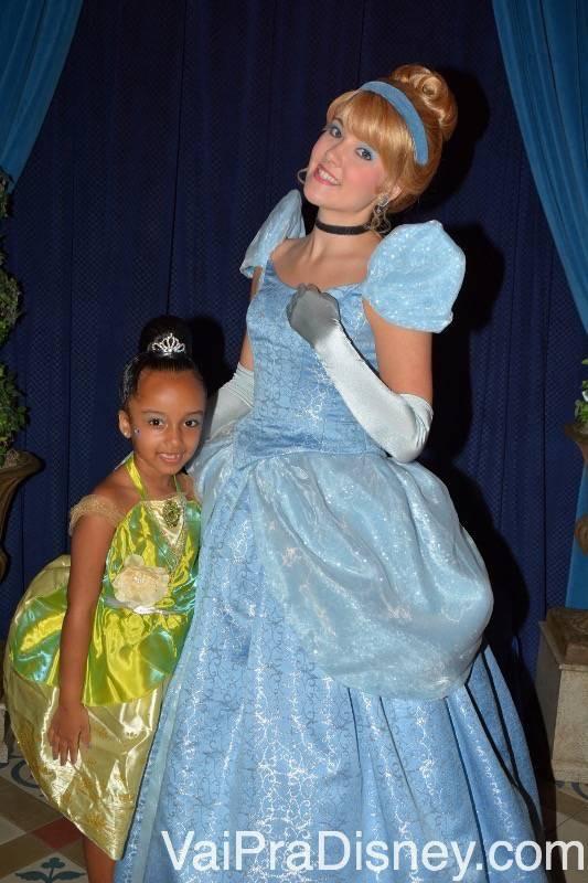 No jantar com a Cinderella