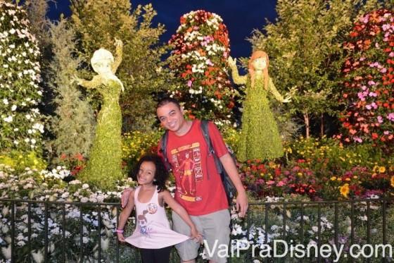 Topiárias do Frozen na Disney