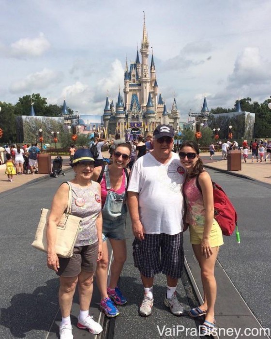 Família inteira na Disney!