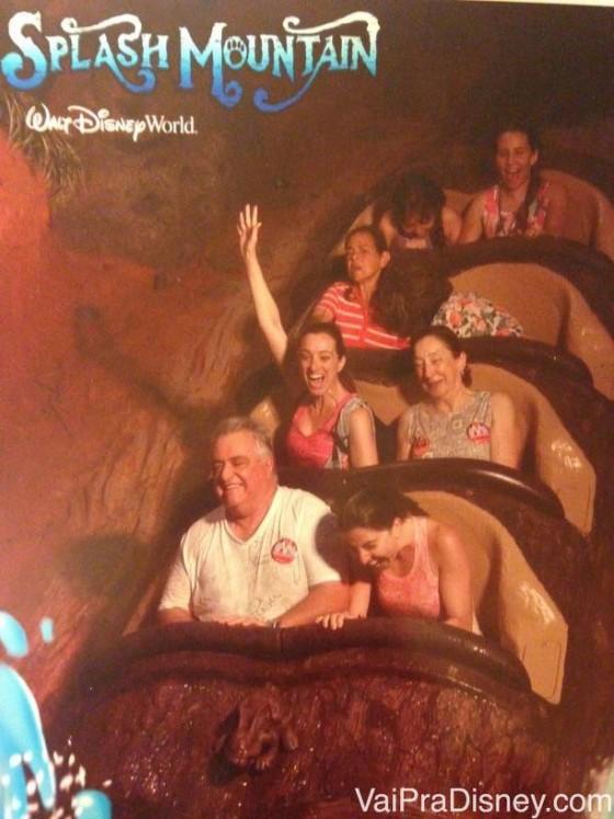 Splash Mountain com os pais