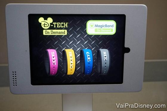 Foto da tela para selecionar o processo de personalização e escolher as opções