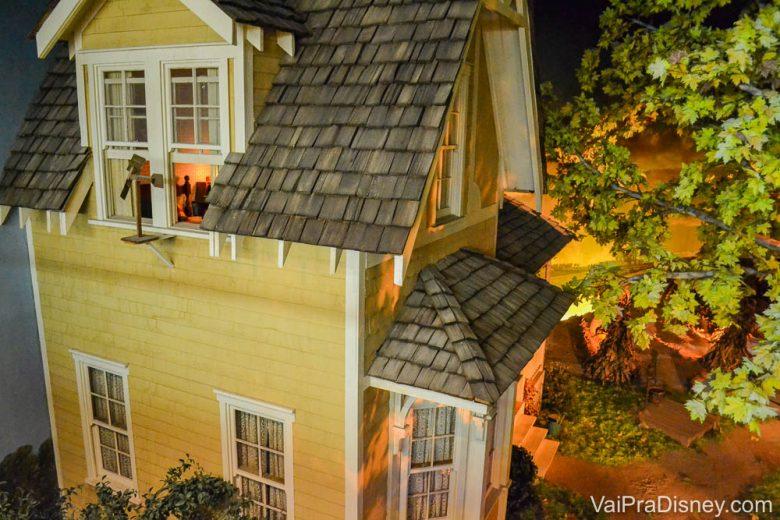 Foto da casinha do Living with the Land que é visível no restaurante