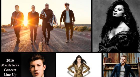 Alguns dos artistas convidados para fazer shows de graça na Universal em 2016.