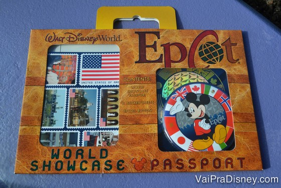 Passaporte do Epcot para as crianças. Uma ótima lembrancinha da viagem.