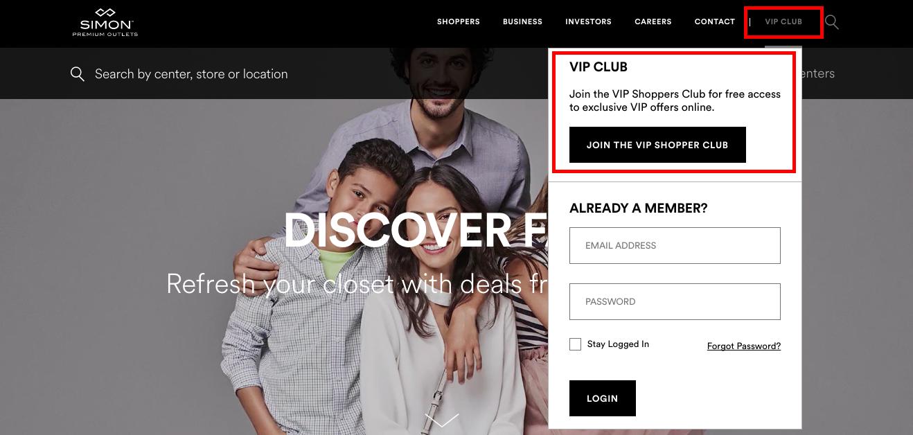 Site do Premium Outlet