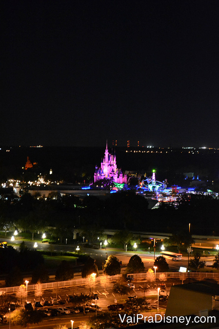 Magic Kingdom visto da varanda do California Grill.